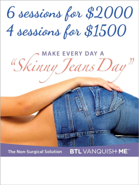 Vanquish special offer - 6 sessions for $2000 - 4 sessions for $1500