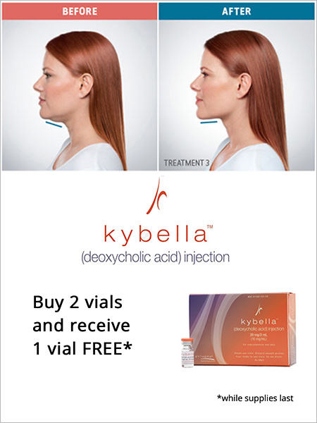 Kybella special offer - Buy 2 vials and receive 1 vial FREE