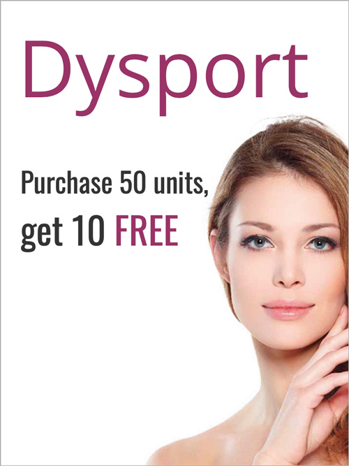 Offer - Dysport- Purchase 50 units get 10 free
